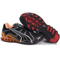 2010 Puma Running Shoes In Black/Orange/Red Cheap To Buy