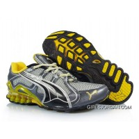 2010 Puma Running Shoes In Silver/Black/Yellow Lastest