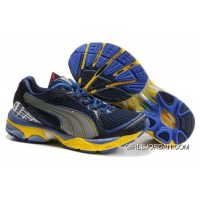 2010 Puma Running Shoes In Blue/Yellow Discount