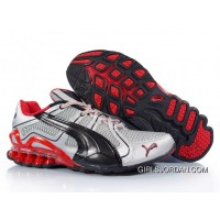 2010 Puma Running Shoes In Silver/Black/Red Discount