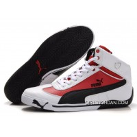 Puma Schumacher Racing High Tops Shoes White/Red/Black Best