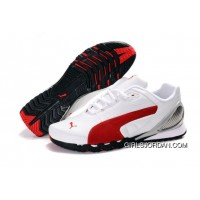 Puma New Style Grit Cat III Shoes White/Red Super Deals