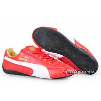 Puma Speed Cat Leather Shoes Red/White Online