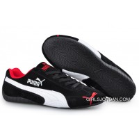 Puma Speed Cat SD Trainers Black/White/Red Cheap To Buy