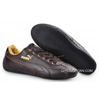 Puma Speed Cat Leather Shoes Chocolate Lastest