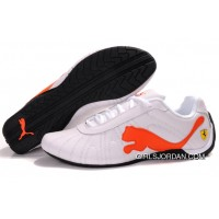 Men's Puma Speed Cat Big In White/Orange Super Deals