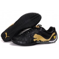 Men's Puma Speed Cat Big In Black/Golden Top Deals