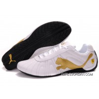 Men's Puma Speed Cat Big In White/Golden/Black Authentic