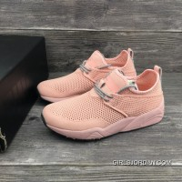 Puma Stampd Trinomic Woven Women Shoes Pink Free Shipping