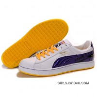 Puma Suede Fat Lace In White-Royal Blue-Yellow Authentic