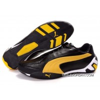 Women's Puma Tour Cat Lo L Black/Yellow/White New Style