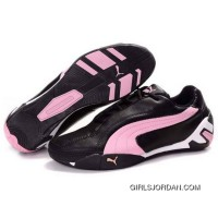 PUMA Tour Cat Trainers Black-Pink New Style