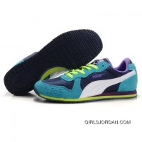 Women's Puma Usain Bolt Running Shoes Blue Purple White Cheap To Buy