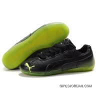 Women's Puma Voltaic Shoes Black Green Cheap To Buy
