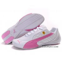 Women's Puma Wheelspin White/Pink/Gray Authentic
