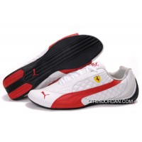 Women's Puma Wheelspin White/Red Free Shipping