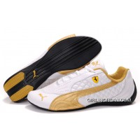 Women's Puma Wheelspin White/Gold For Sale