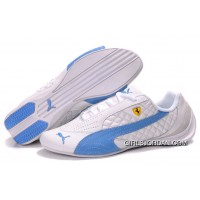 Men's Puma Wheelspin In White/Blue Free Shipping