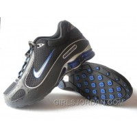 Men's Nike Shox Monster Shoes Black/Blue/Silver Cheap To Buy
