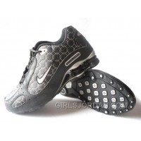 Men's Nike Shox Monster Shoes Black/Silver Online
