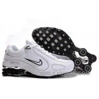 Men's Nike Shox Monster Shoes White/Black/Silver Free Shipping