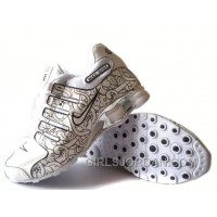 Men's Nike Shox NZ Carpenterworm Shoes White/Black/Offwhite/Silver Discount