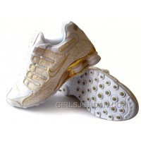 Men's Nike Shox NZ Carpenterworm Shoes White/Yellow/Gold Online