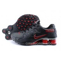 Men's Nike Shox NZ Shoes Black/Brilliant Red/Grey Online