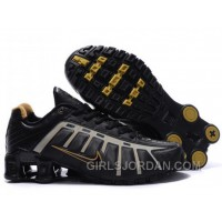 Men's Nike Shox NZ Shoes Black/Grey/Brown New Release