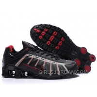 Men's Nike Shox NZ Shoes Black/Grey/Red Super Deals