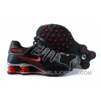 Men's Nike Shox NZ Shoes Black/Red/Grey Authentic