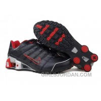 Men's Nike Shox NZ Shoes Black/Red/Grey Cheap To Buy