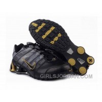 Men's Nike Shox NZ Shoes Black/Yellow Free Shipping