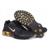 Men's Nike Shox OZ Shoes Black/Gold Discount