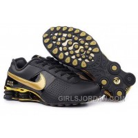Men's Nike Shox OZ Shoes Black/Gold Authentic