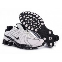 Men's Nike Shox OZ Shoes White/Black/Silver Free Shipping