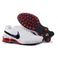 Men's Nike Shox OZ Shoes White/Silver/Black/Red Cheap To Buy