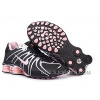 Women's Nike Shox OZ Shoes Black/Silver/Light Pink Super Deals