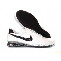 Men's Nike Shox R2 Shoes White/Black Online