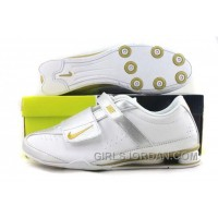 Men's Nike Shox R3 Shoes White/Silver/Golden For Sale