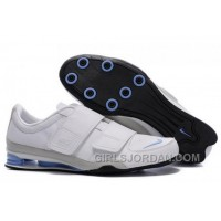 Men's Nike Shox R3 Shoes White/Grey/Light Blue/Black Lastest