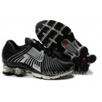 Kid's Nike Shox R4 Shoes Black/Cool Grey For Sale