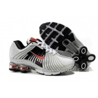 Kid's Nike Shox R4 Shoes White/Black/Red Online