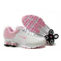 Kid's Nike Shox R4 Shoes White/Light Pink For Sale
