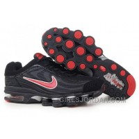 Men's Nike Air Max Shox R4 Shoes Black/Red Super Deals