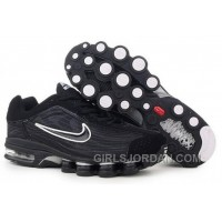 Men's Nike Air Max Shox R4 Shoes Black/White Top Deals