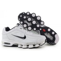 Men's Nike Air Max Shox R4 Shoes White/Black For Sale