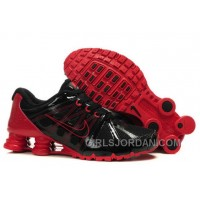 Men's Nike Airmax 2009 & Shox R4 Shoes Black/Sport Red Discount