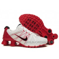 Men's Nike Airmax 2009 & Shox R4 Shoes White/Gym Red/Black Top Deals