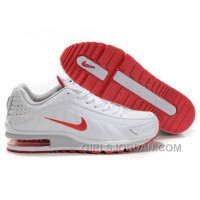 Men's Nike Shox R4 & Air Max LTD Shoes White/Grey/Red Super Deals
